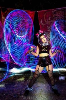 lumaflow, luma, flow, emissions festival, calypsa, clown, led hoop, performer